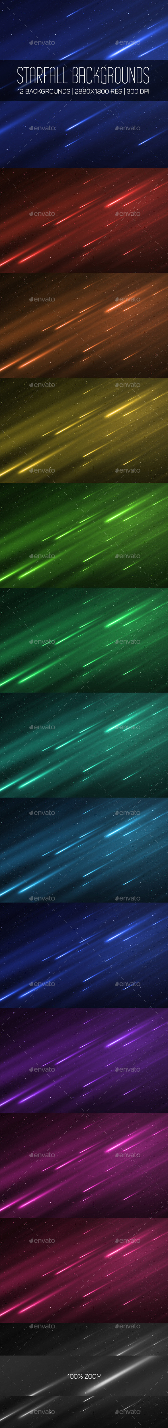 Starfall Backgrounds - Abstract Backgrounds