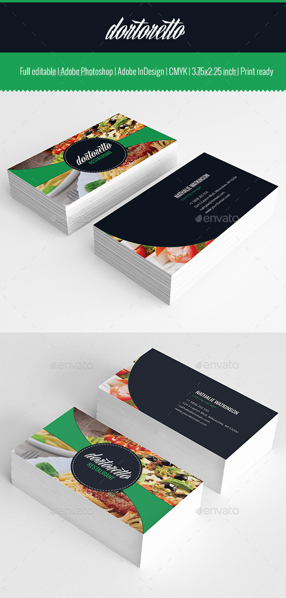 Dortoretto Business Card v2 - Business Cards Print Templates