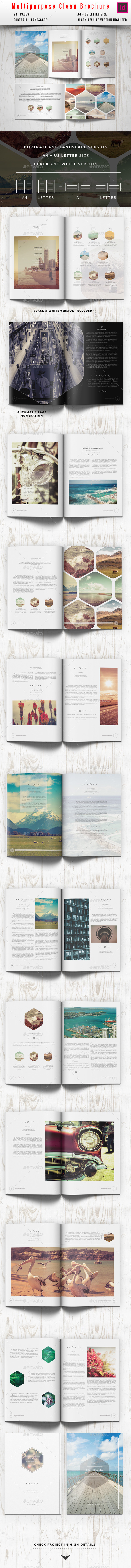 Multipurpose Clean Brochure / Catalog - Portfolio Brochures