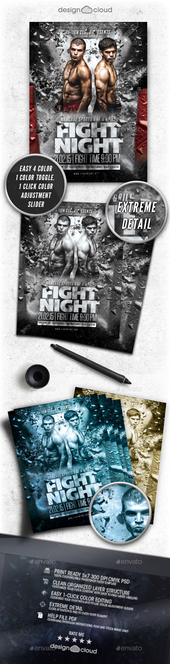 MMA Fight Flyer Template Vol. 1 - Sports Events