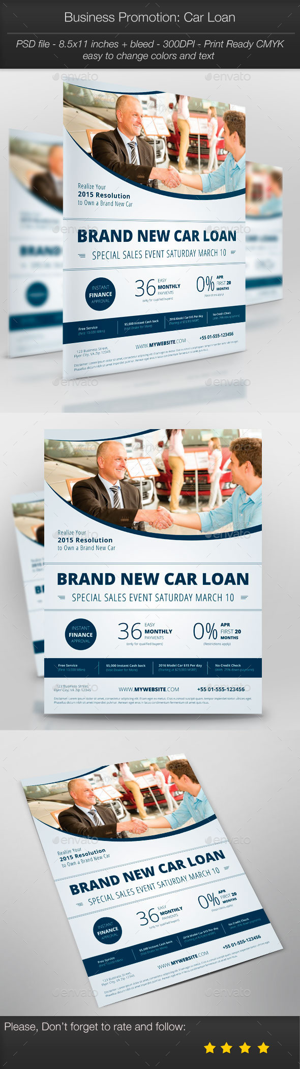 Business Promotion: Car Loan - Corporate Flyers
