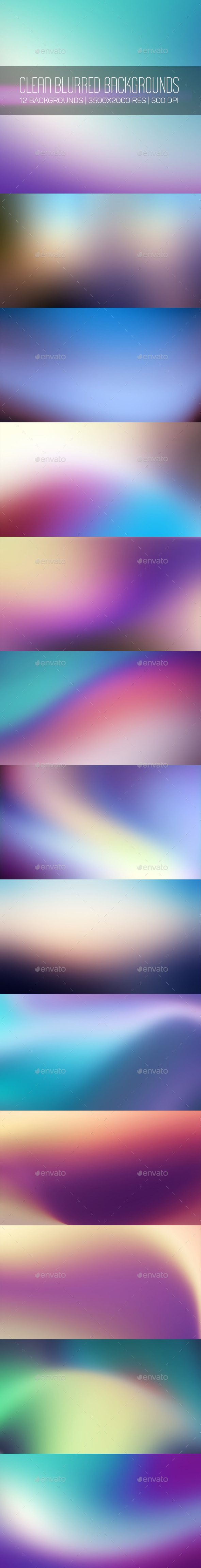 Clean Blurred Backgrounds - Abstract Backgrounds