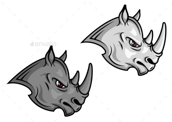 Cartoon Rhino Mascot - Animals Characters
