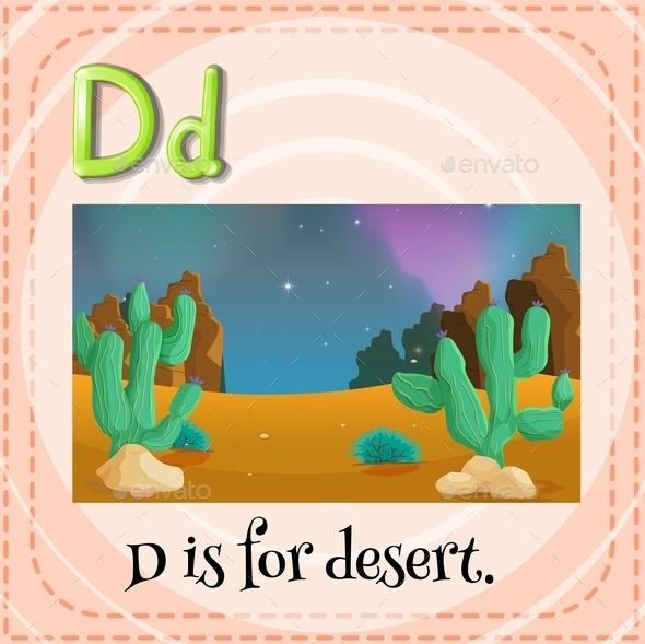 Letter D - Objects Vectors
