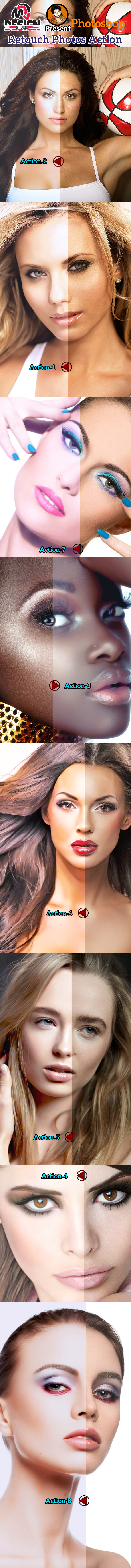 Retouch Photos Action - Photo Effects Actions