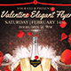Valentine Elegant Flyer template 4x6``+0.25`` bleed_300 dpi_CMYK mode Nulled