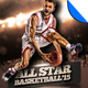 All Star Playoff Basketball Flyer Template