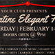 Valentine Elegant Facebook event cover template Nulled