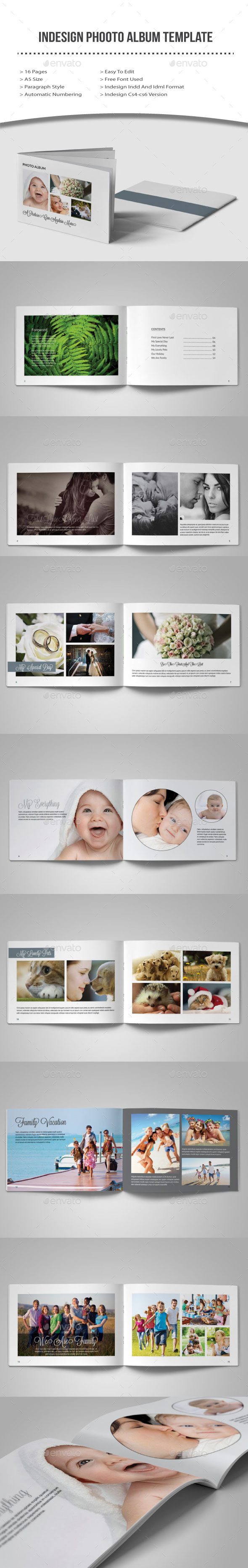 Indesign  Photo Album Template - Photo Albums Print Templates