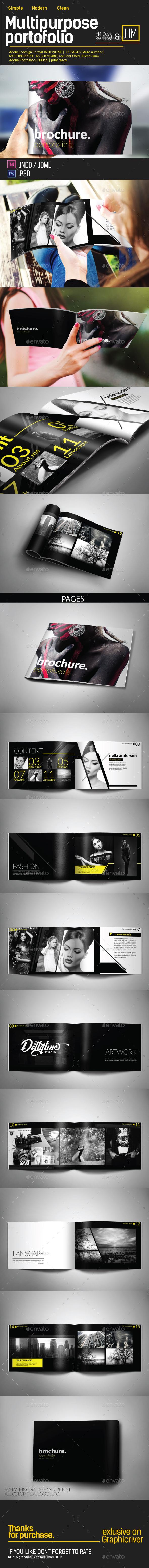 MODERN BROCHURE CATALOG OR PORTOFOLIO DESIGN - Portfolio Brochures