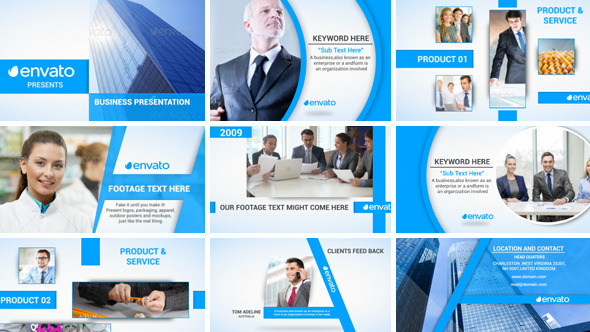 corporate video presentationdollarhunter | videohive, Powerpoint templates