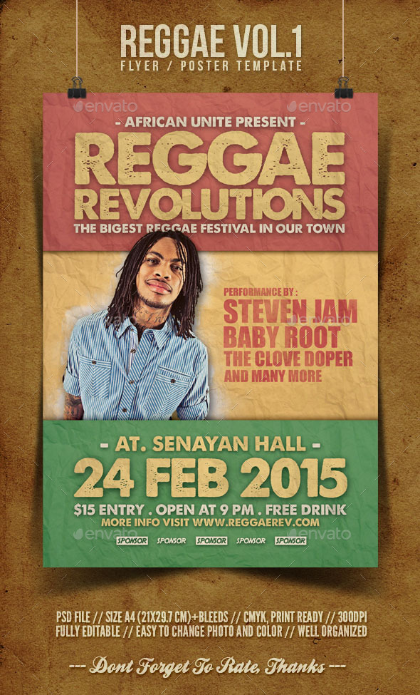 Reggae Flyer Template Vol.1 - Concerts Events