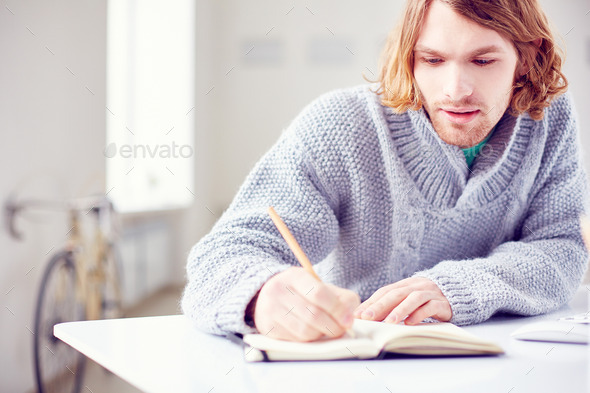 Man in sweater - Stock Photo - Images