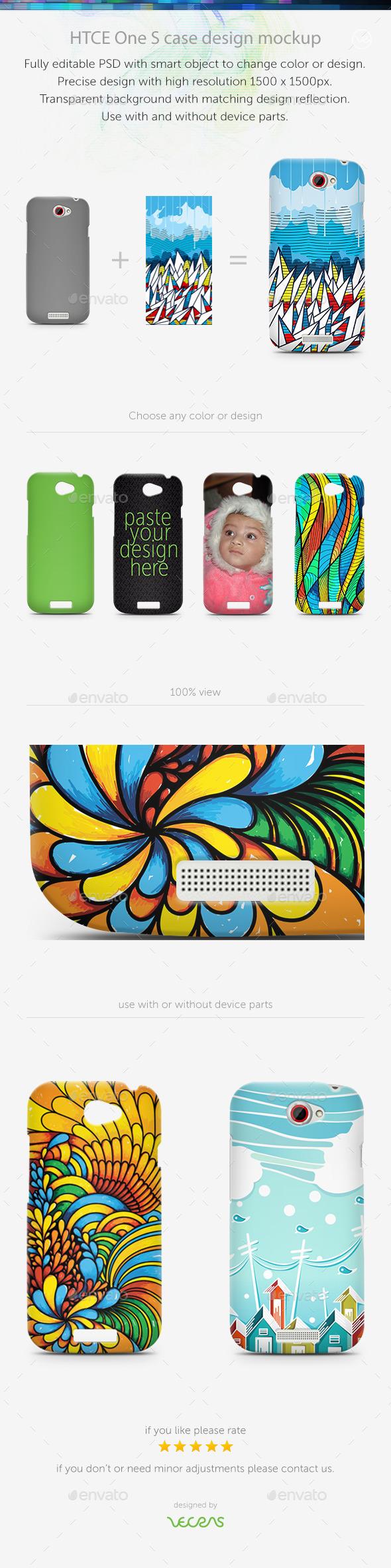 HTCE One S Case Design Mockup - Mobile Displays