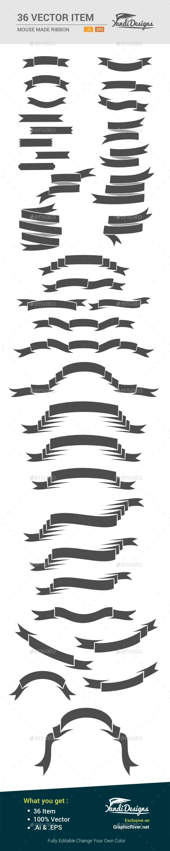 Ribbons - Decorative Vectors