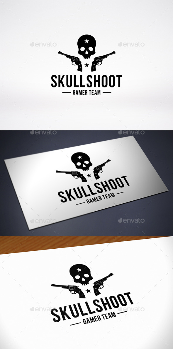 Skull Game Team Logo Template - Humans Logo Templates