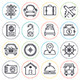 Travel and Vacation Line Icons - GraphicRiver Item for Sale