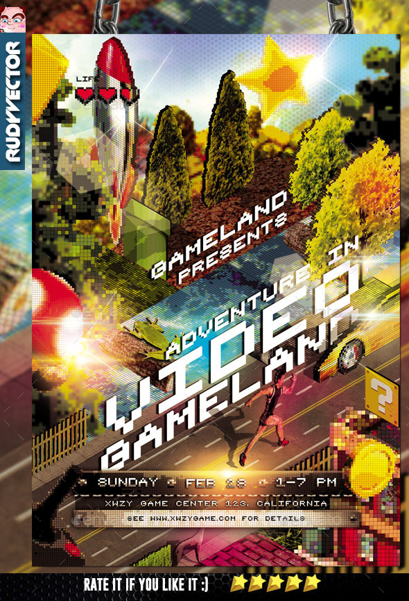 Isometric Video Game Event Flyer - Miscellaneous Events