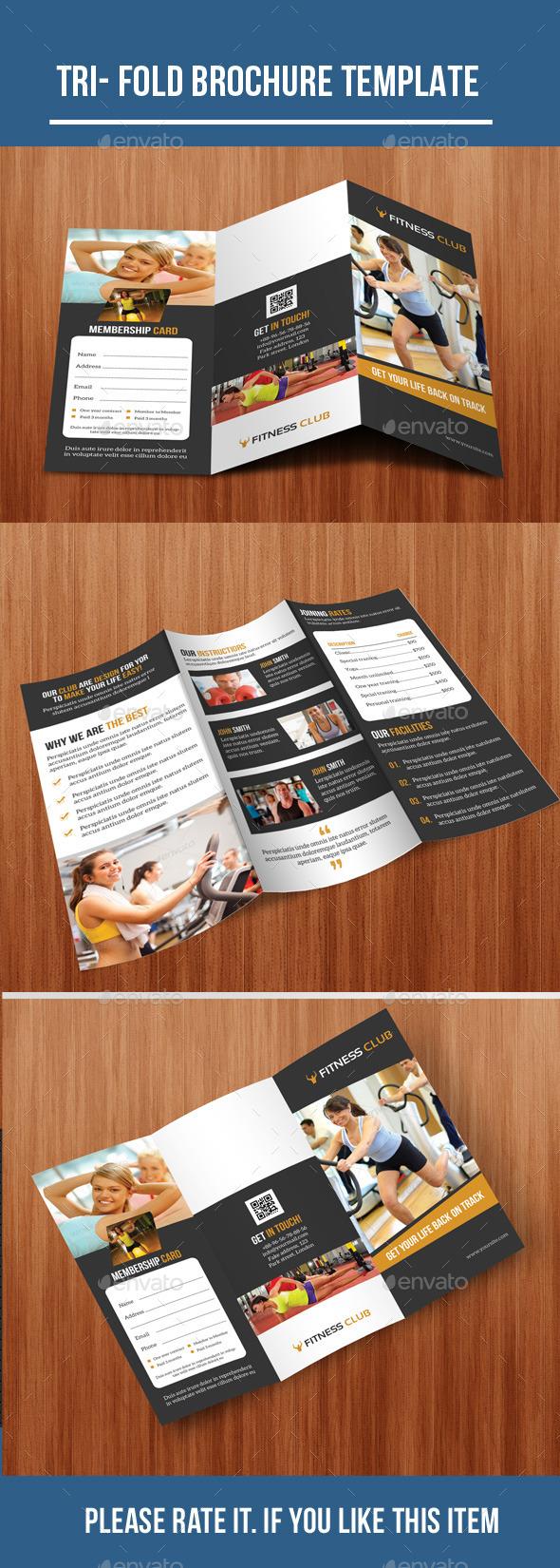 Gym Tri-Fold Brochure - Corporate Brochures