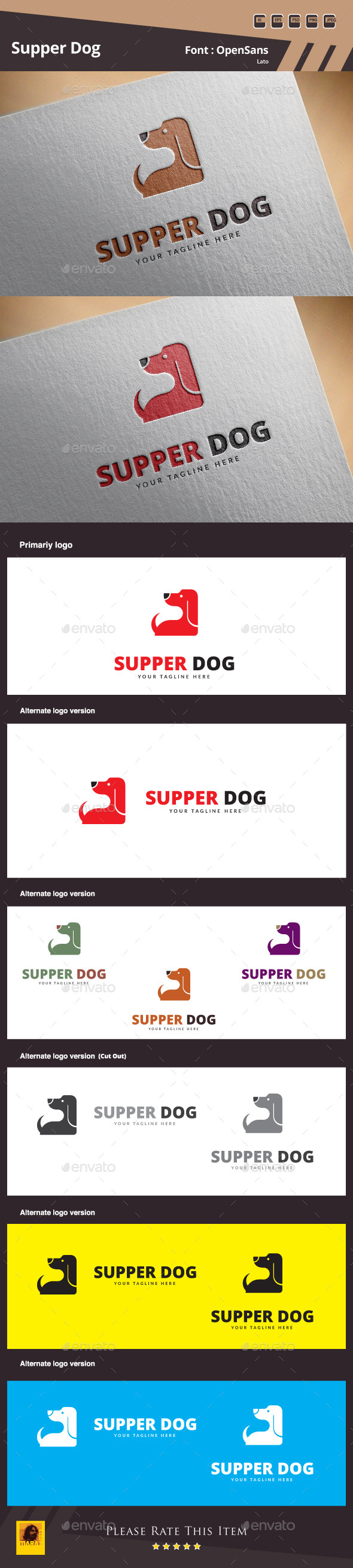 Supper Dog Logo Template - Animals Logo Templates