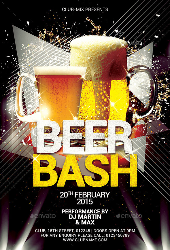 2in1 beer bash flyer by cg virous