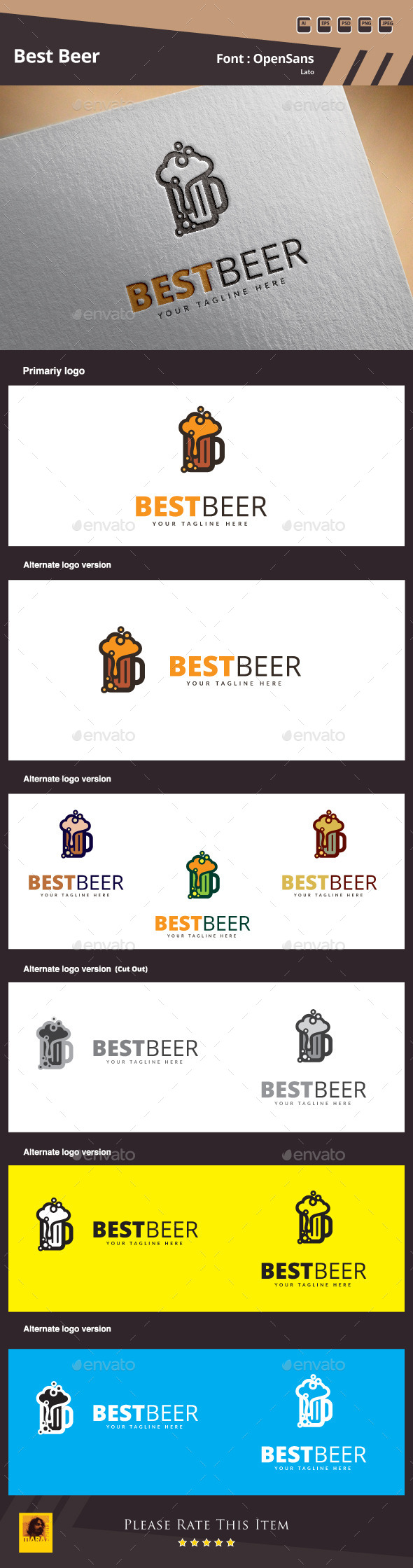 Best Beer Logo Template - Food Logo Templates