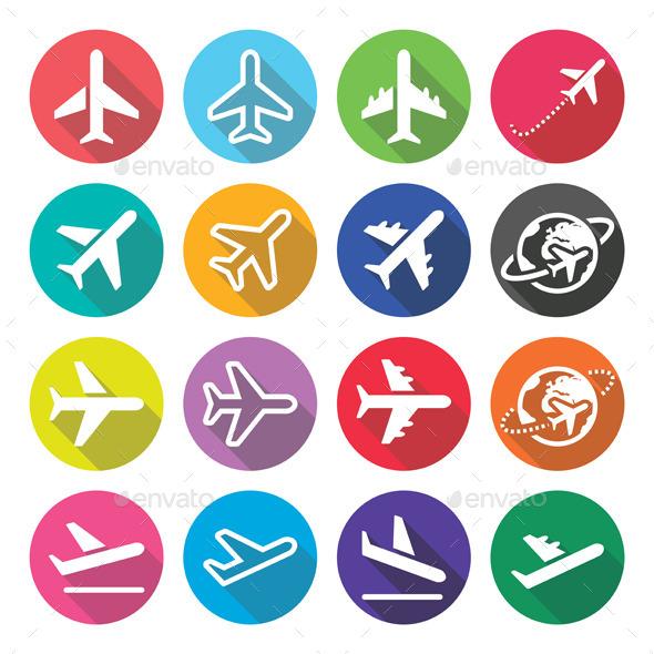 Plane Icons - Abstract Conceptual