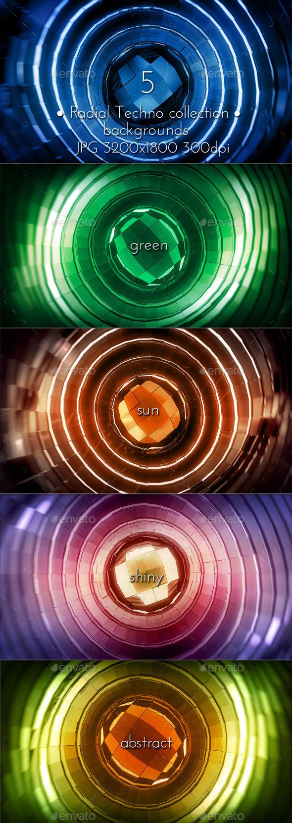 Radial Techno Glowing - Tech / Futuristic Backgrounds