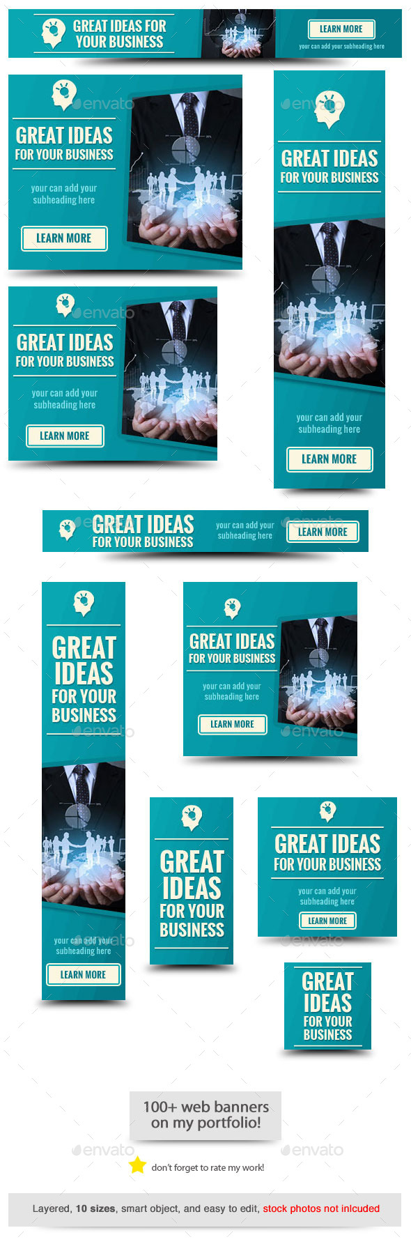 Great Ideas Web Banner Template - Banners & Ads Web Elements