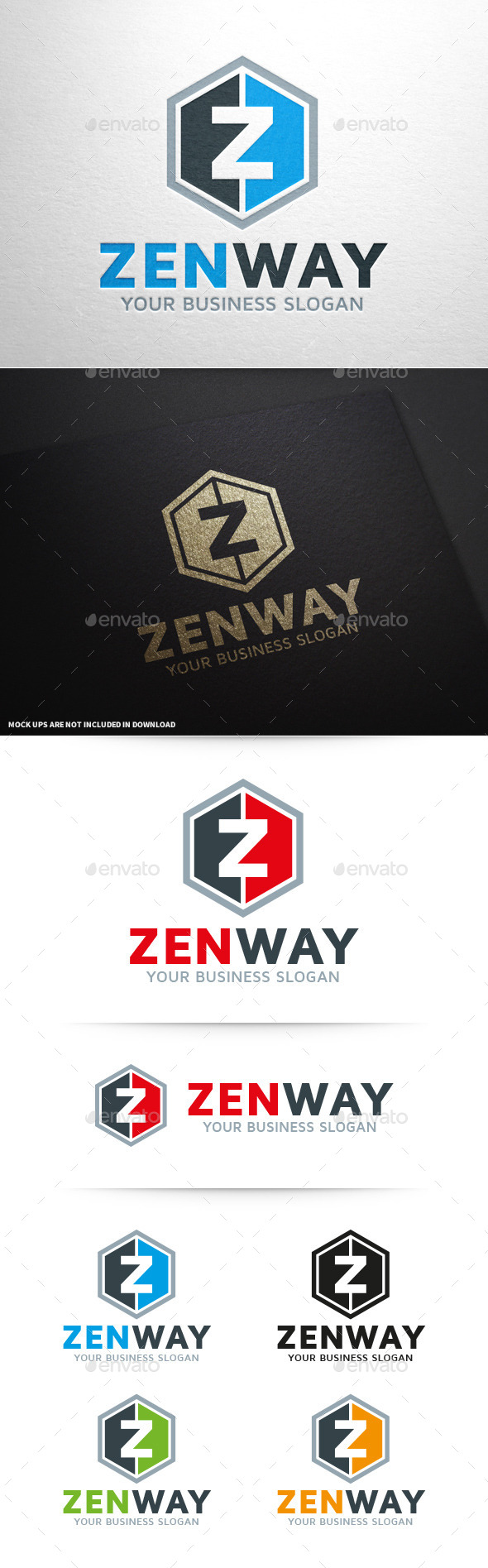 Zen Way - Letter Z Logo - Letters Logo Templates
