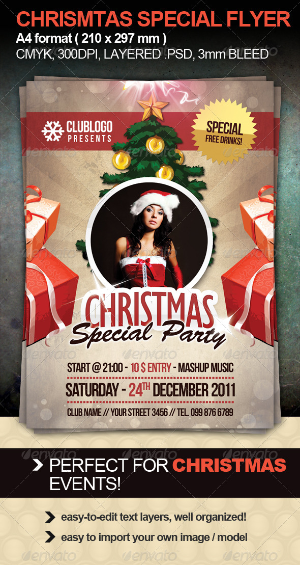 Christmas Special Party Flyer - Clubs & Parties Events