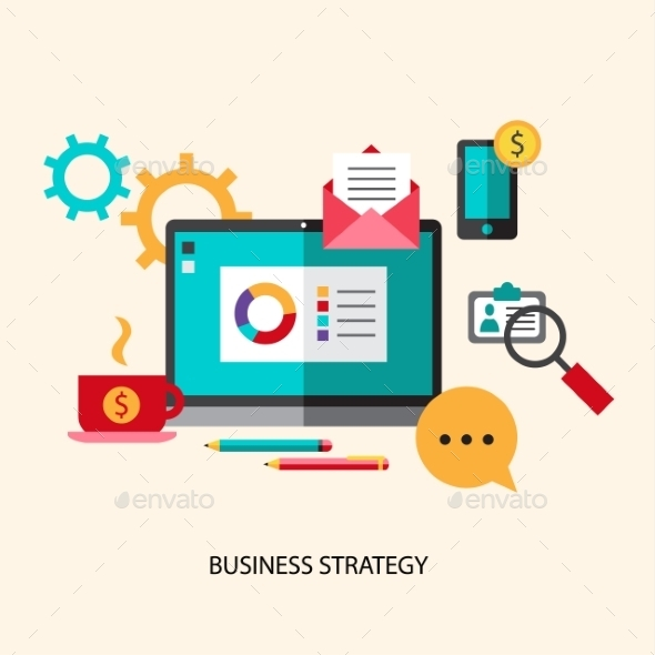 Business Strategy Concept - Web Technology