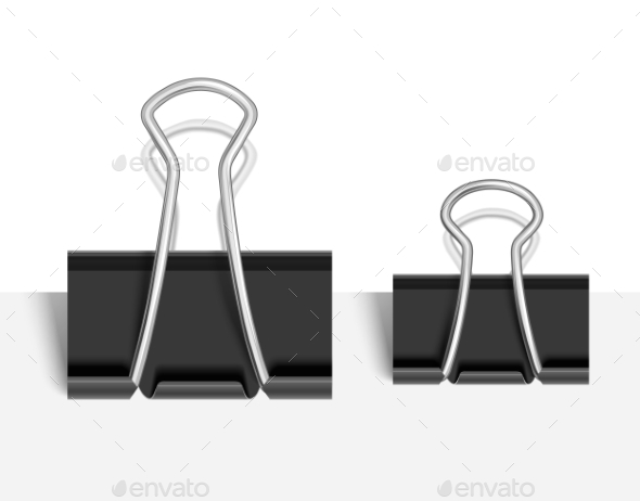 Black Paper Clip - Man-made Objects Objects