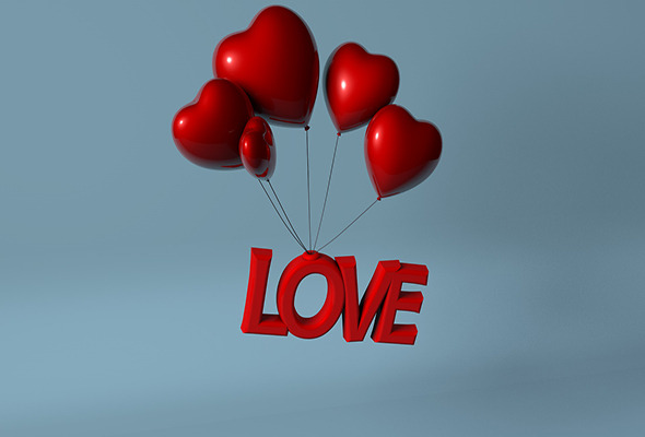 3D Love Heart Balloon  - 3DOcean Item for Sale