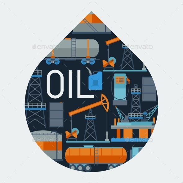 Industrial Background Design with Oil - Industries Business
