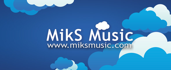 Miks music logo with url aj profile2