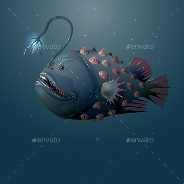 Angler Fish - Animals Characters