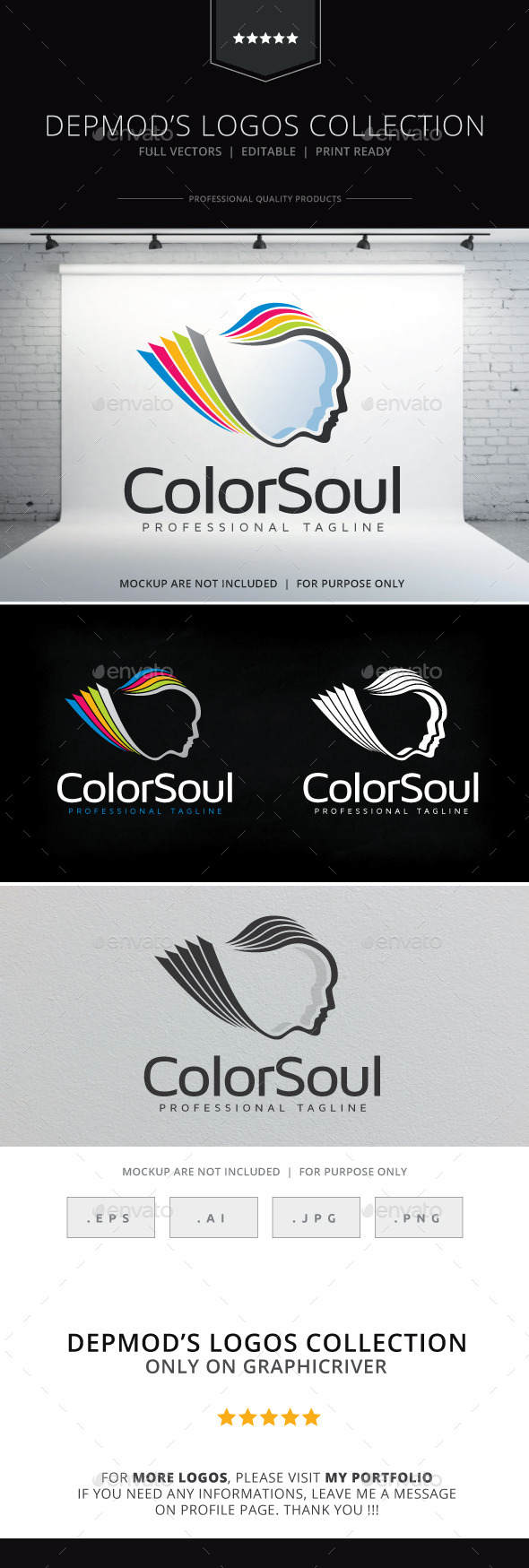 Color Soul Logo - Humans Logo Templates