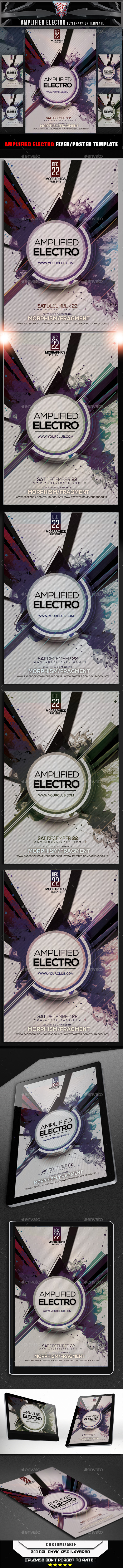 Amplified Electro Flyer Template - Clubs & Parties Events
