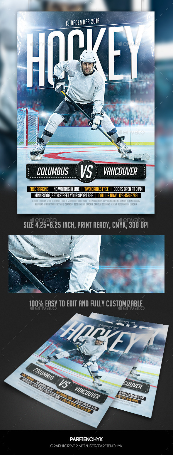 Hockey flyer graphics designs templates from graphicriver maxwellsz
