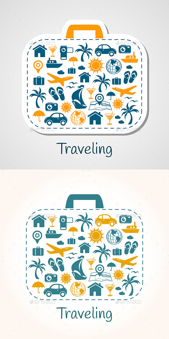Travel Holiday Suitcase - Travel Conceptual
