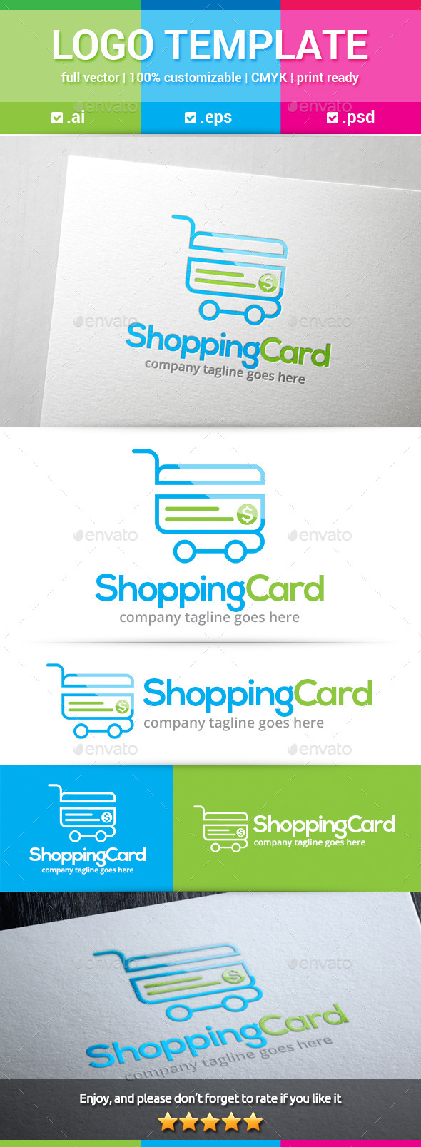 Shopping Card Logo - Objects Logo Templates