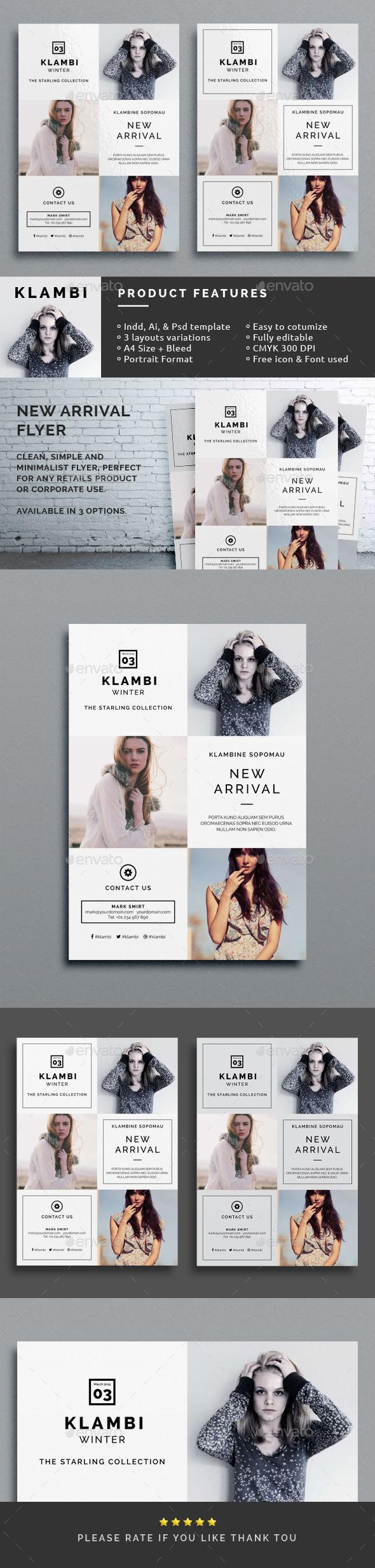 Klambi New Arrival Flyer  - Corporate Flyers