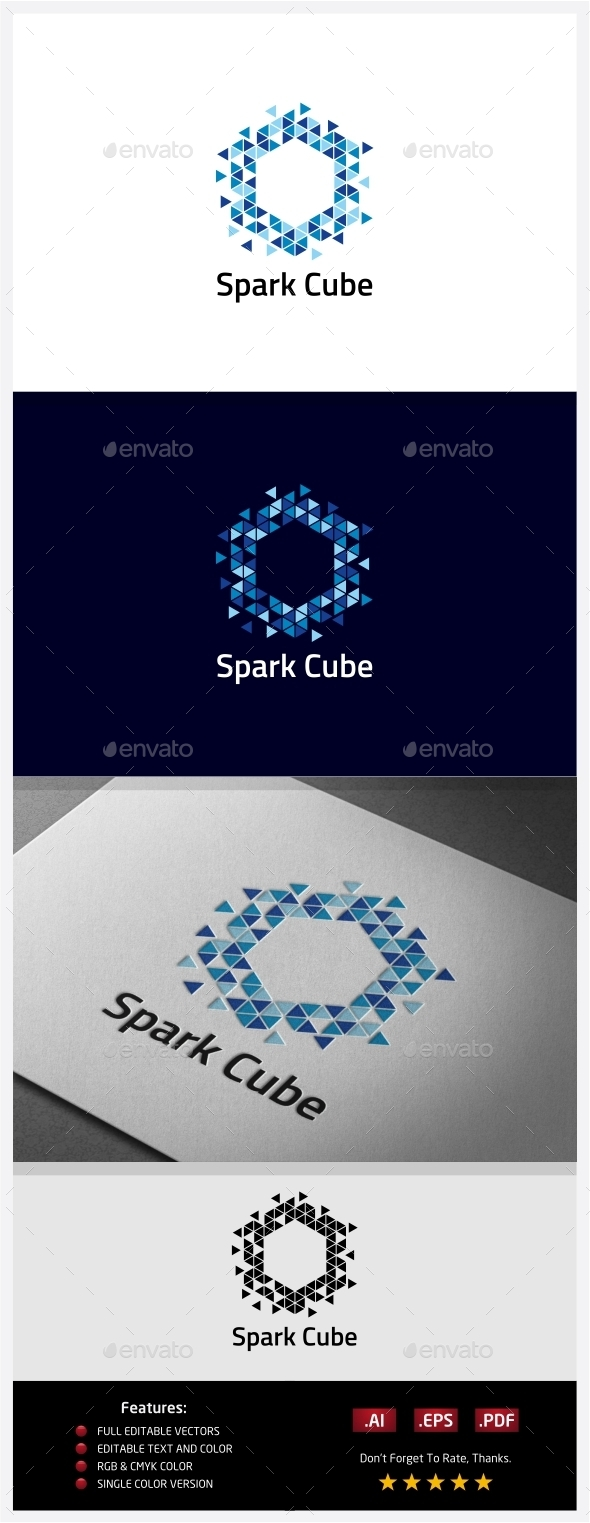 Spark Cube Logo - Abstract Logo Templates