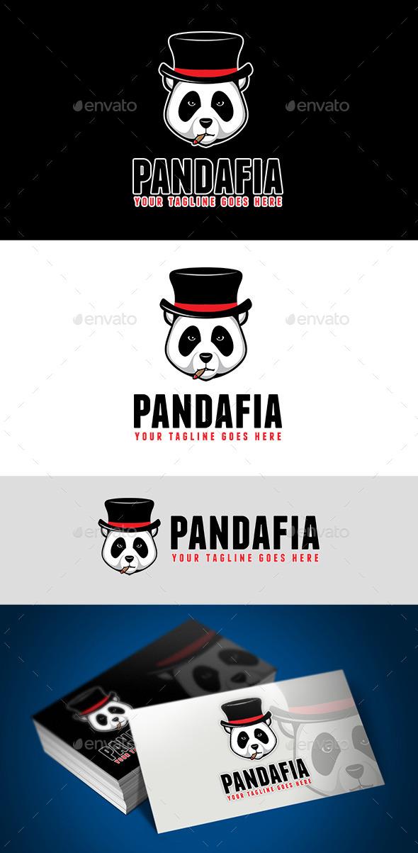 Panda Mafia Logo - Animals Logo Templates