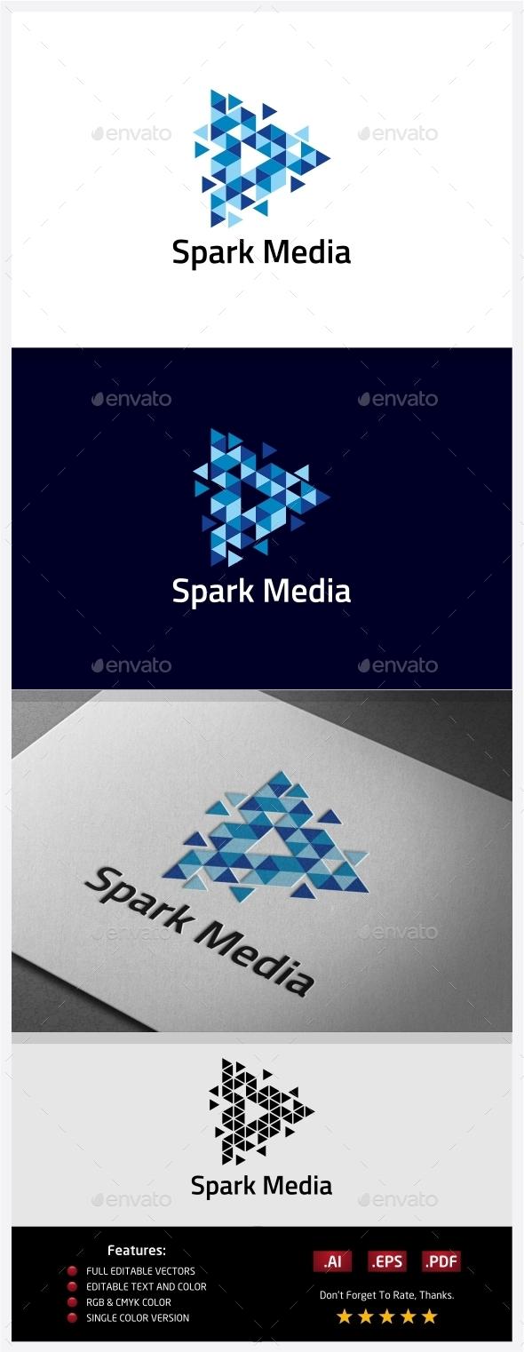 Spark Media Logo - Abstract Logo Templates