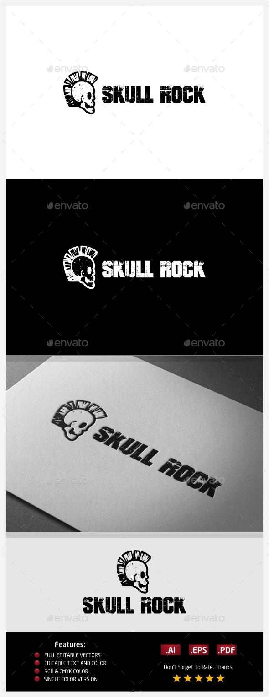 Skull Rocker Logo - Symbols Logo Templates