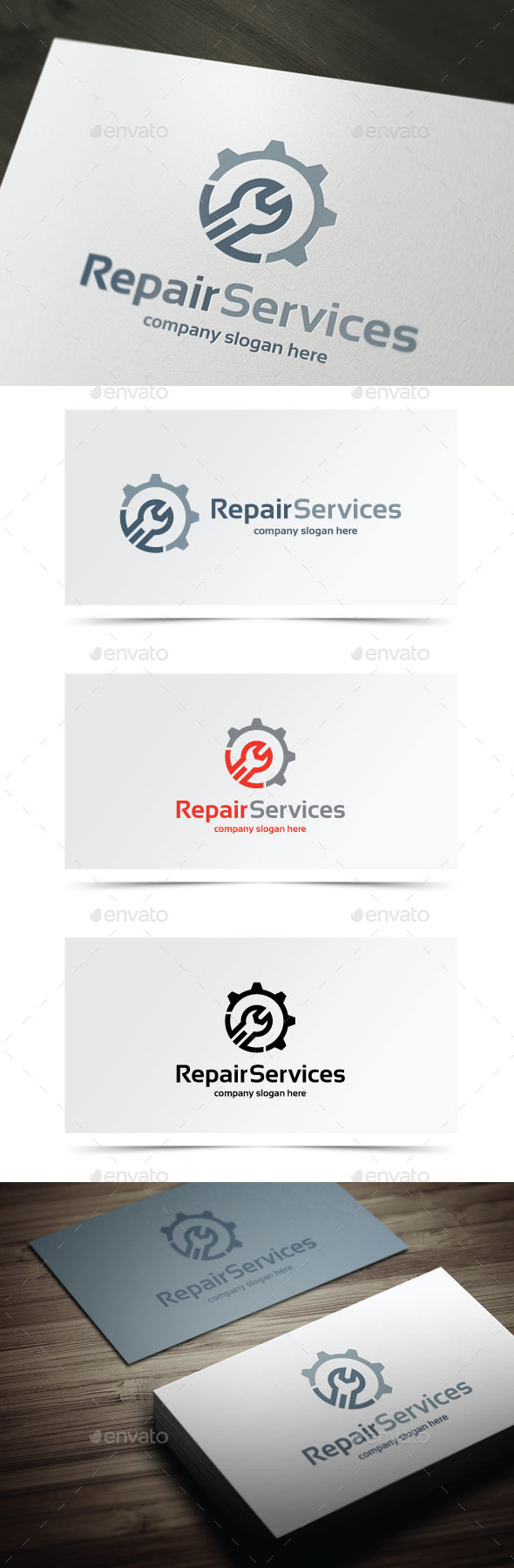 Repair Services - Objects Logo Templates