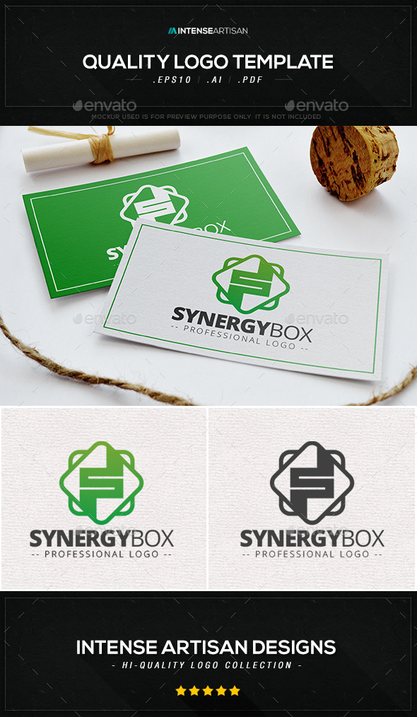 Synergy Box Logo Template - Letters Logo Templates