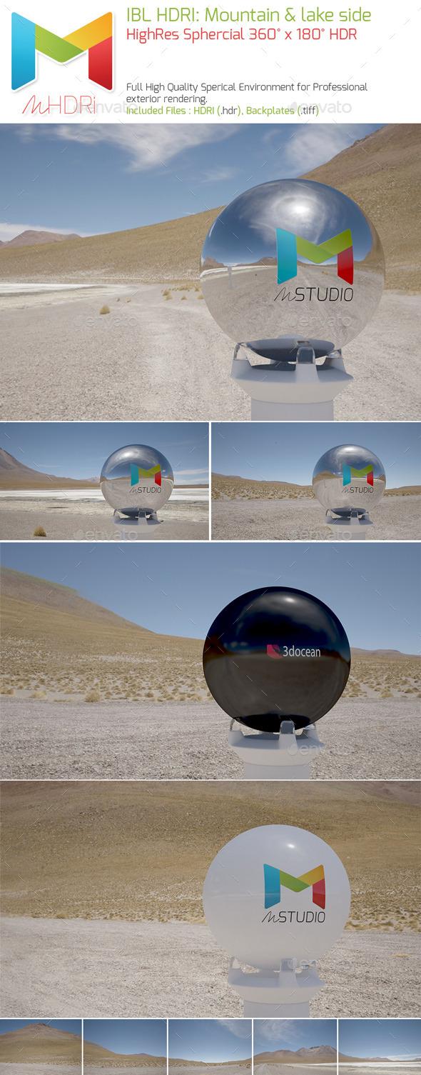 IBL HDRI: Mountain & Lake side Spherical Env. Map - 3DOcean Item for Sale